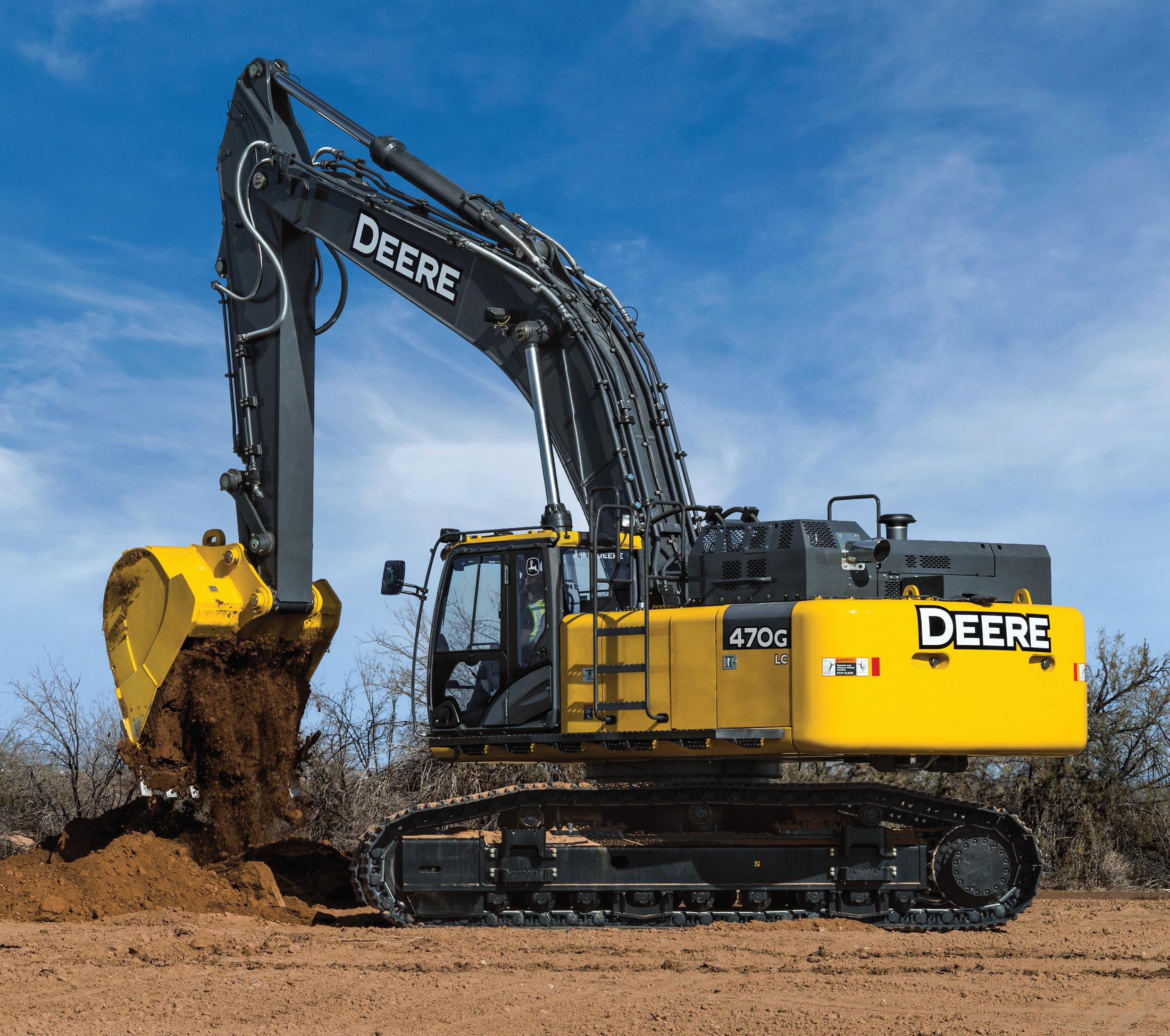 John Deere's 470G LC Excavator