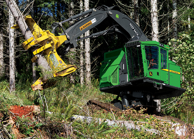 859M Tracked Feller Buncher at work in the forest