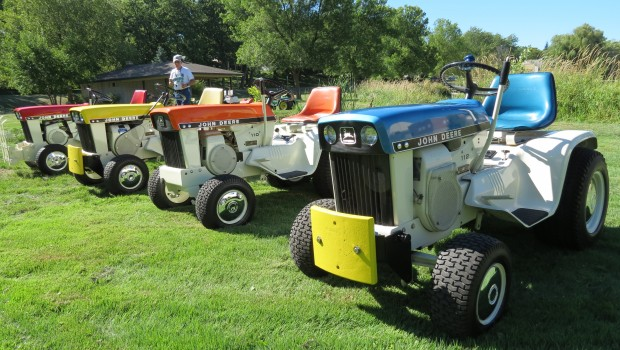 ... enjoyed the tractor rides. Restored John Deere patio series tractors