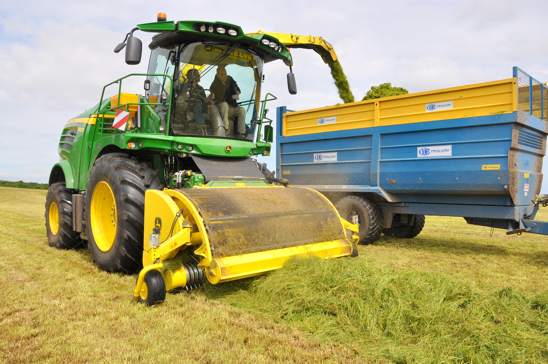 driving his new 8800 self-propelled forage harvester, with John Deere ...