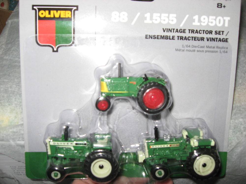 NEW! 1/64 Agco Oliver 3 pc. tractor set w/ 88 1950T 1555 models by ...