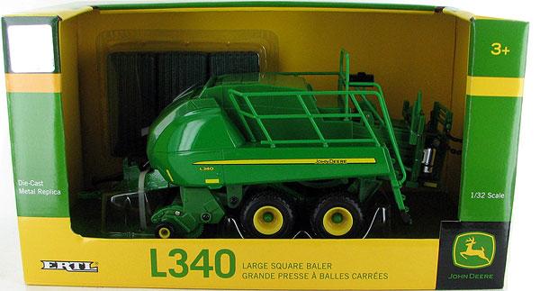 John Deere 1:32 scale Toy L340 Large Square Baler - LP53351