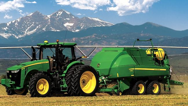 Wheeled out: John Deere's L330 and L340 large square balers are the ...