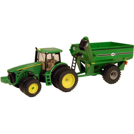 John Deere 1/64 Scale 8320R Tractor with J&M Grain Cart - Walmart.com