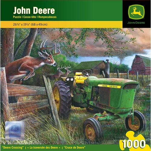John Deere Deer Crossing 1000 Piece Puzzle: 705988713040     Calendars ...
