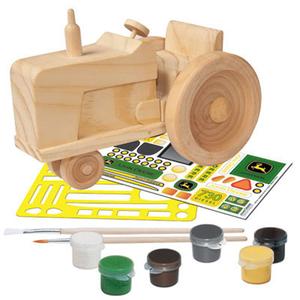 John Deere Classic Tractor Wood Toy Paint Set