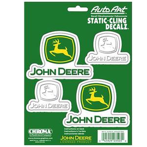 John Deere Stacked Logo Decals