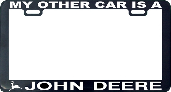 My other car is a john deere license plate frame for sale