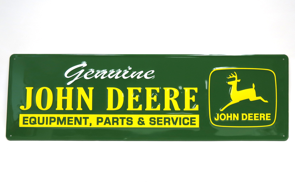 ... John Deere Bedding > John Deere Parts Large Metal Reproduction Sign