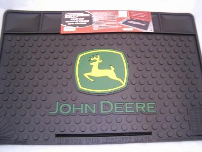 Details about John Deere Bench Top Utility Mat Garage Shop Rubber New
