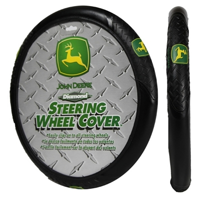 John Deere Logo Steering Wheel Cover: John Deere Car Accessories ...