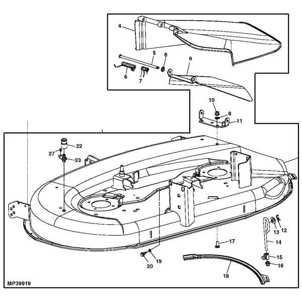 John Deere Deck Parts List submited images.