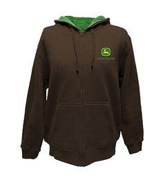 NWT John Deere Boys size 7 brown hoodie hooded sweatshirt Big Tractor ...