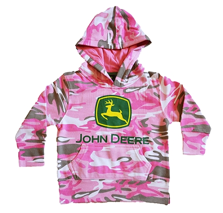 ... Clothing > John Deere Baby > John Deere Little Girls Pink Camo Hooded