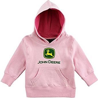 Amazon.com: John Deere Infant Pink Hoodie Sweatshirt (18M): Clothing