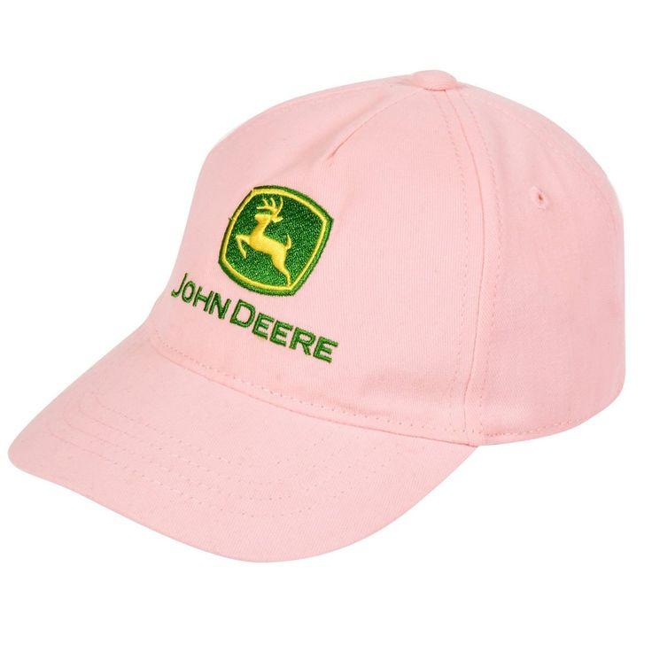 John Deere Girls Pink Baseball Cap Hat SGC100P (L/XL (10-14)). Youth ...