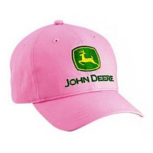 Girls-Youth-John-Deere-Basic-Trademark-Logo-Twill-Hat-Cap-Pink-LP14778