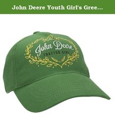 John Deere Youth Girl's Green Tractor Girl Cap. Youth girl cap in ...