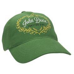 John Deere Youth Girl's Green Tractor Girl Cap. Youth girl cap in ...
