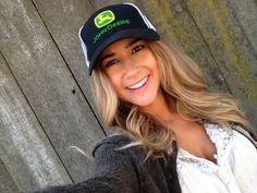John Deere, country girl, farm, green, john Deere tractor, hats, john ...