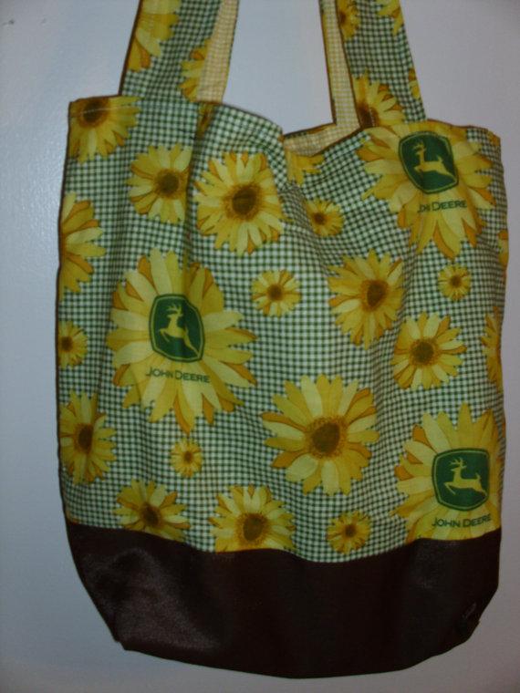 ... to Handmade diaper bag, sunflower, John Deere, tractor print on Etsy