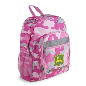John Deere Pink Camouflage Backpacks | WeGotGreen.com