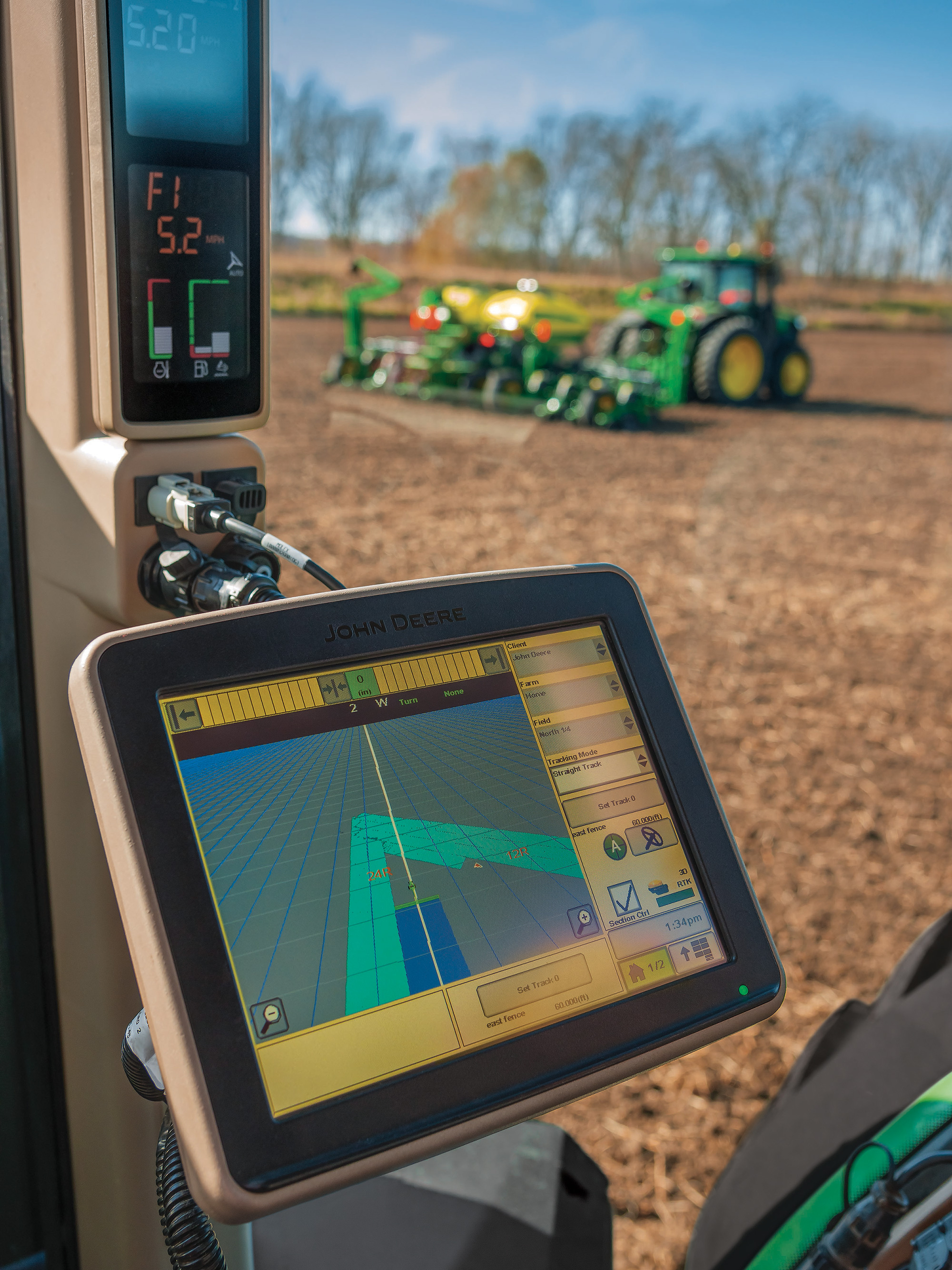 new feature of Machine Sync allows two machines in the same field to ...