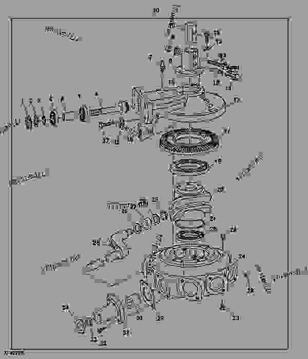 Rotary Gearbox - RAKE John Deere RR2109 - RAKE - RR2109 Rotary Rake ...