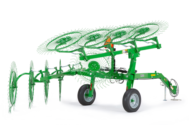 WR60 Series High-Capacity Carted Wheel Rakes Hay Equipment Frontier ...