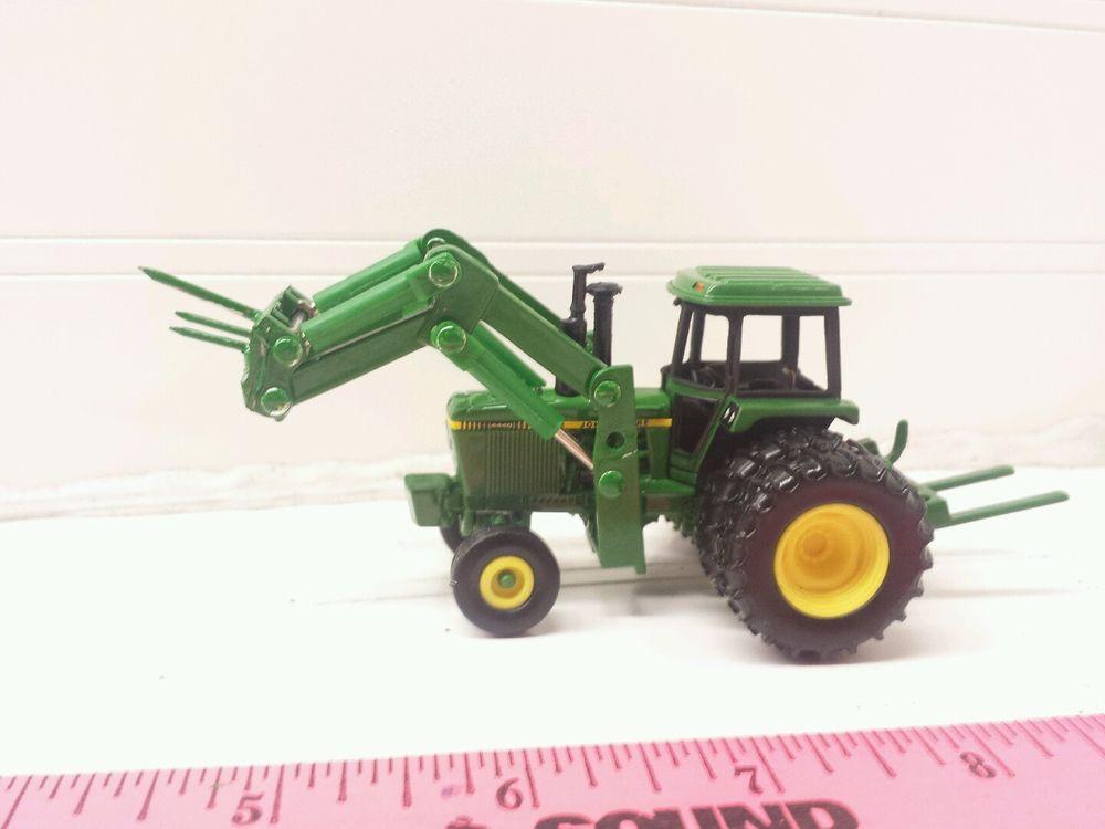 ... Farm Toy John Deere 4440 Duals Loader Bale Spear Rear Mover | eBay
