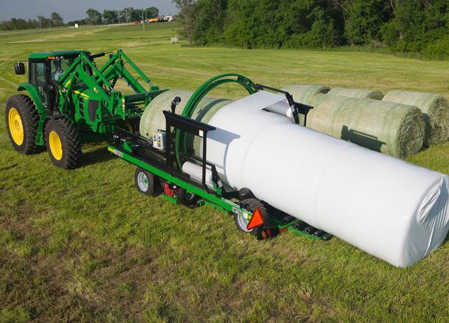 John Deere LW11 Series In Line Bale Wrapper Hay Equipment JohnDeere ...