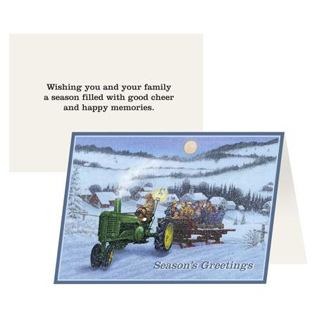 John Deere Holiday Hayride Greeting Card 12-pack - NGDER77106