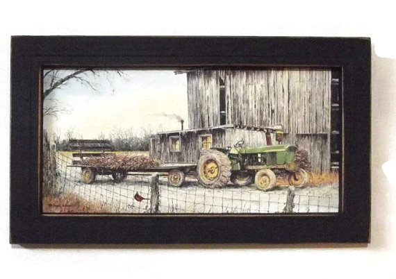 John Deere Tractor .. country home decor . john deere farm ...