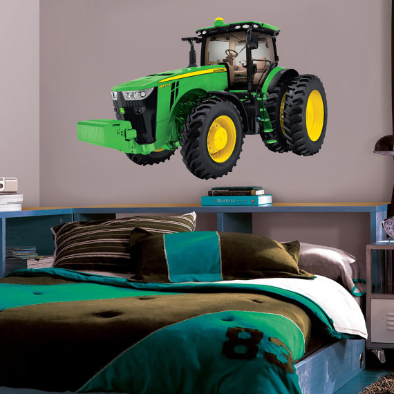John Deere Tractor Decal WALL STICKER Home Decor by ...