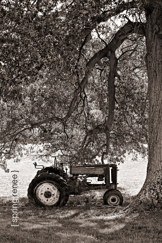 Items similar to Home Decor - John Deere Tractor Fine Art ...