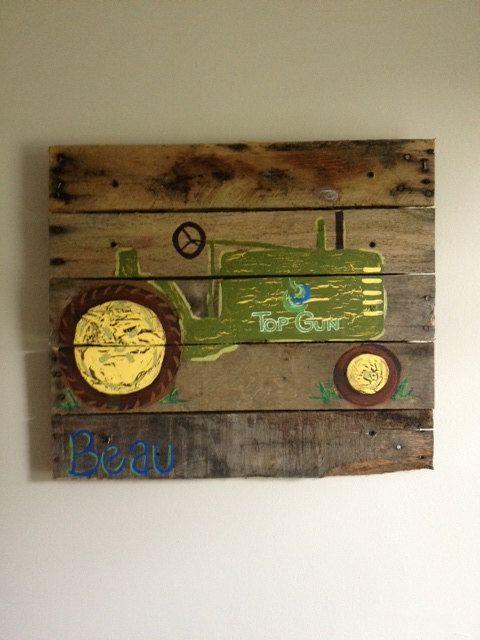 Tractor,Boys Rustic Wall Art,Old Tractor,Farm,Barn,Bedroom ...