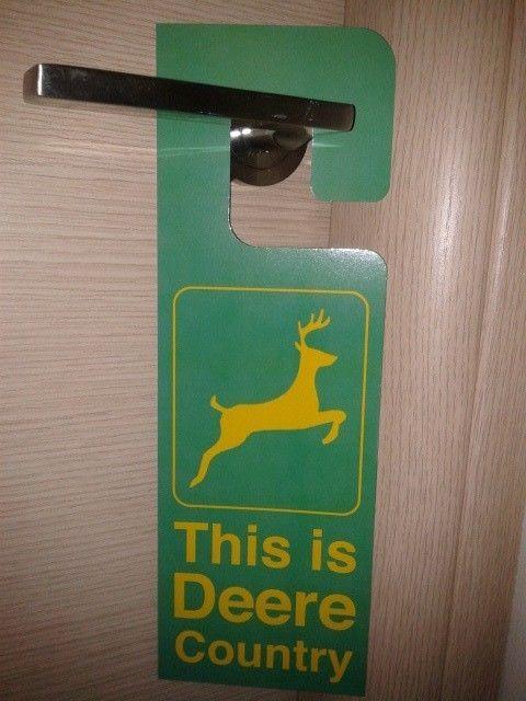 John Deere Sign English American Green Yellow Home Room ...