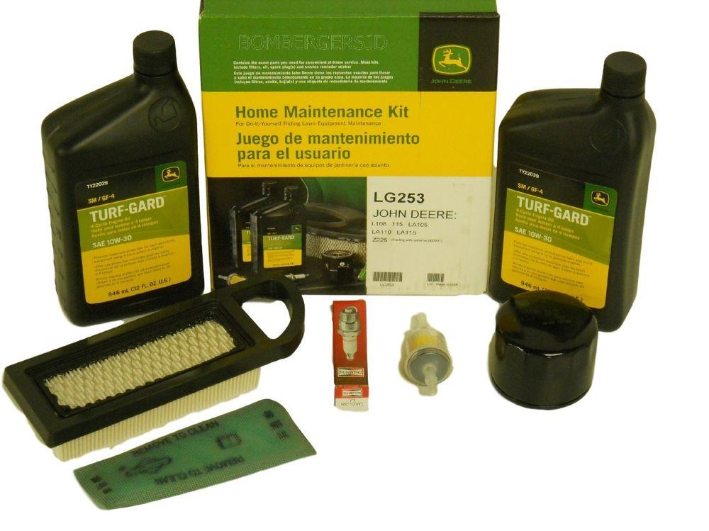 John Deere Home Maintenance Service Kit LG253 LA105 LA110 LA115 L108 ...