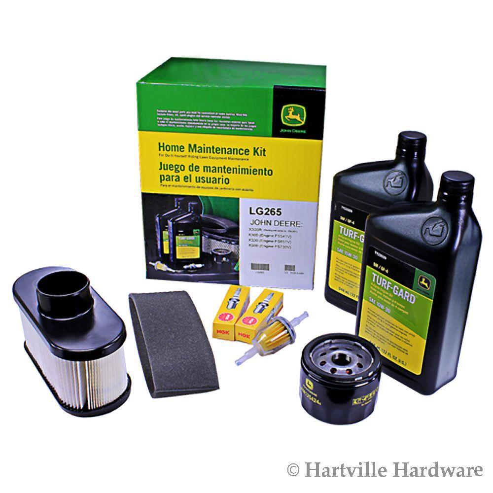 John Deere LG265 Home Maintenance Kit X300 X300R X320 X324 X360 X500 ...