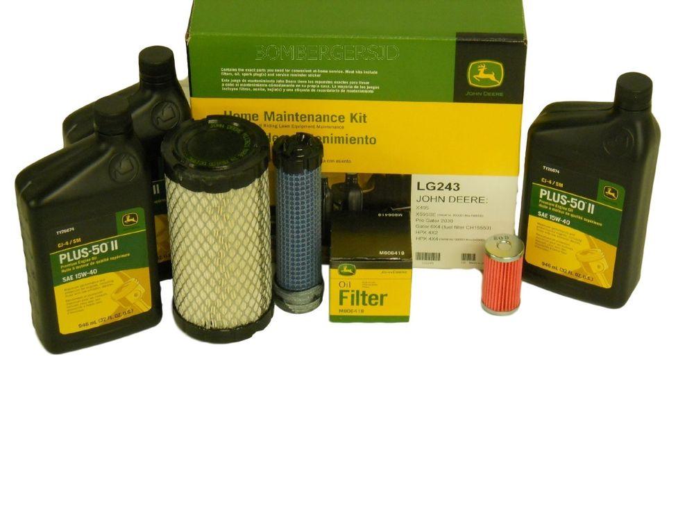 John Deere Home Maintenance Service Kit LG243 X495 X595 4x2 4x4 HPX ...