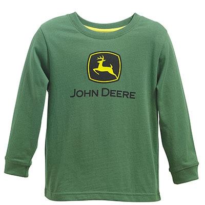 John Deere Toddler Boy's Green Logo Long Sleeve Shirt | WeGotGreen.com