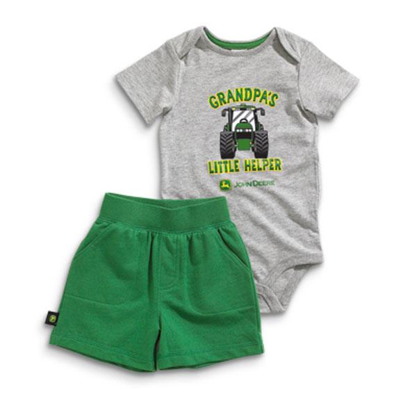 John Deere Grandpa's Little Helper Infant Onesie and Short Set ...