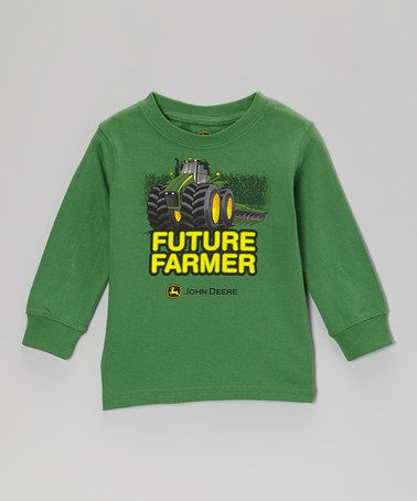 ... Green 'Future Farmer' Long-Sleeve Tee - Toddler by John Deere on #