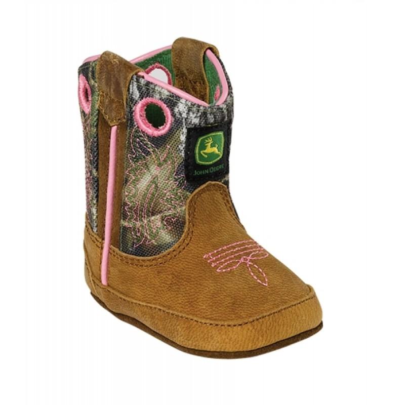 John Deere Johnny Popper Mossy Oak Wellington Girls Baby Boot JD0246 ...