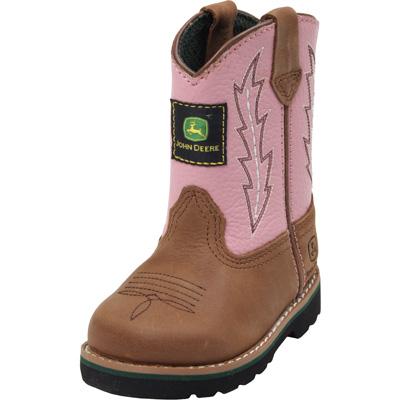 John Deere Infant Round Toe Cowboy Boots