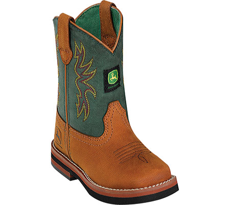 John Deere Boots Classic Square Toe Pull-On 1318 (Infant/Toddler Boys ...