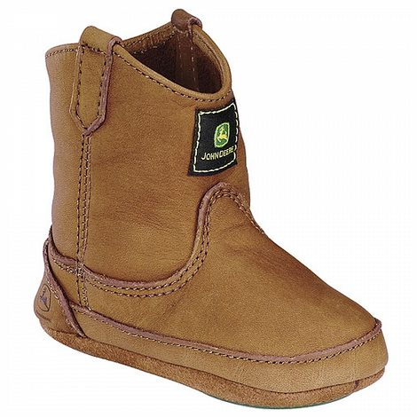 John Deere Baby Walnut Wellington Soft Sole Crib Shoes Boots 2 - Join ...