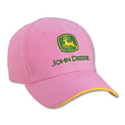 Infant Girl's Pink John Deere Baseball caps | WeGotGreen.com