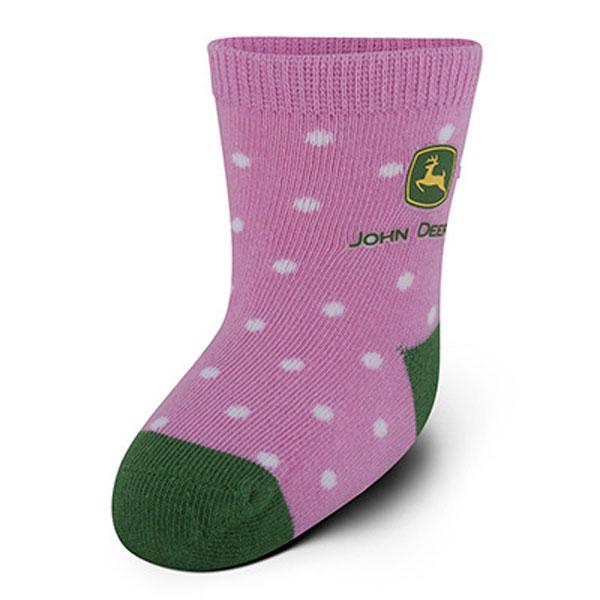 John Deere Infant Crew Socks Pink and Green - LP51278 ...