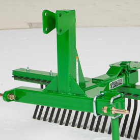 strong steel frame supports an angled tine beam for superior ...